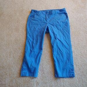 Ann Taylor LOFT blue cropped pants